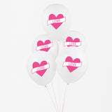 Ballon My Little Day motif coeur pour decoration de fete.