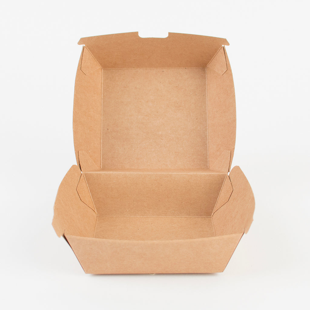 1 hamburger box - Kraft