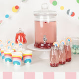 décoration de table de baby shower arc en ciel multicolore My little Day