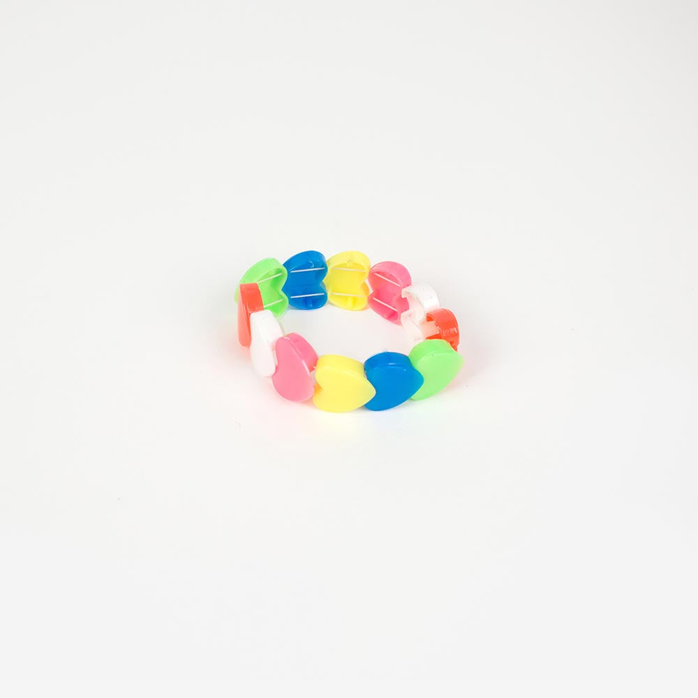 1 bracelet cœur multicolore - My Little Day