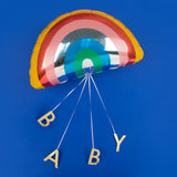 Ballon helium arc-en-ciel pour déco de baby shower mixte par My Little Day