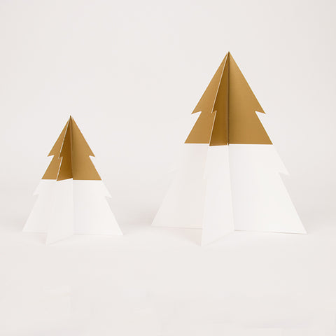 Two-colored Christmas trees - Golden & white