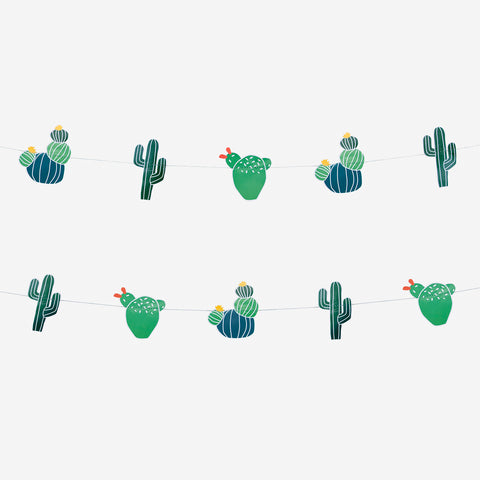 Guirlande en papier cactus - My Little Day