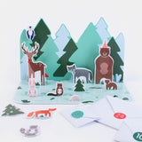 Calendrier de l'avent animaux de la forêt my little day: 24 figurines en carton