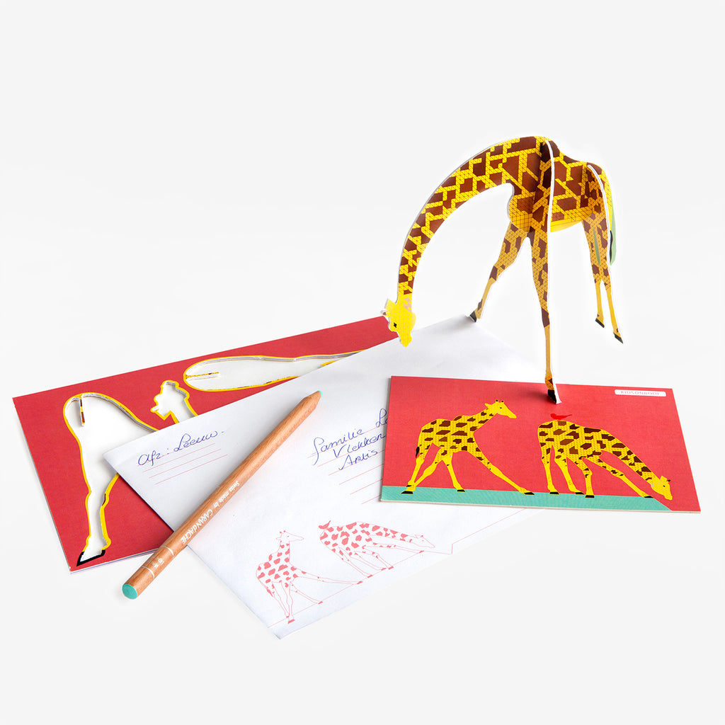 Carte pop-out Girafe