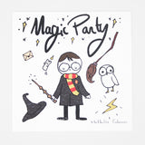 Invitation anniversaire enfant Harry Potter par Mathilde Cabanas.