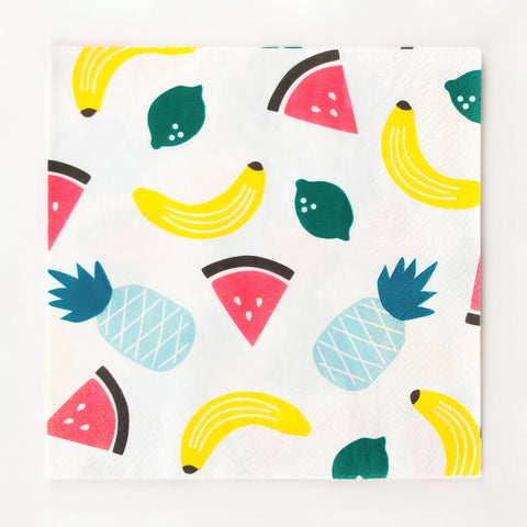 20 serviettes - Fruits
