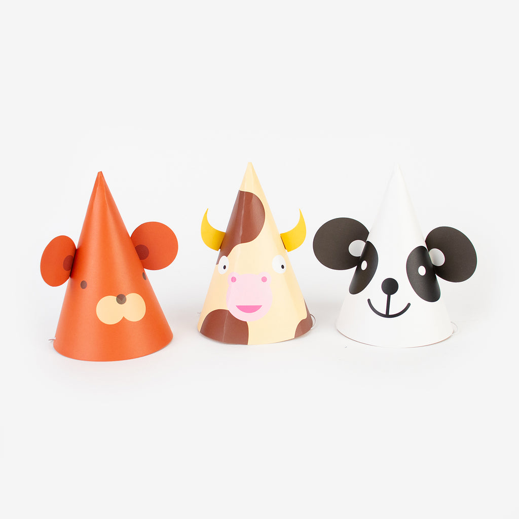 8 chapeaux pointus - Animal mignon