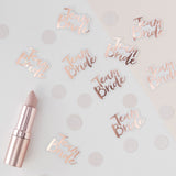Confettis roses gold Team Bride pour deco EVJF originale ou table des témoins