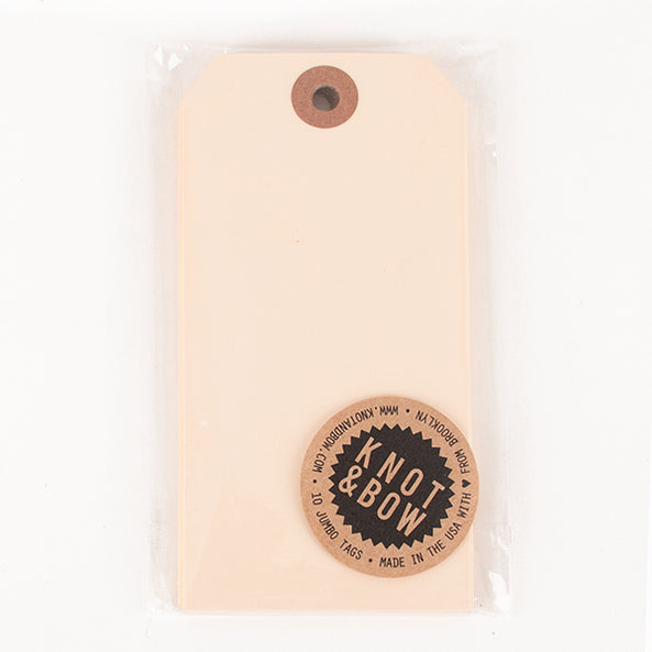 10 grands gift tags - Beige