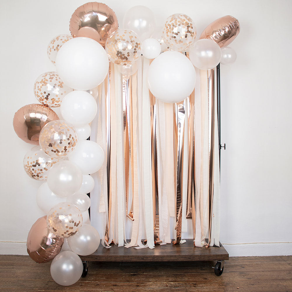 Arche ballon : 70 ballons rose gold