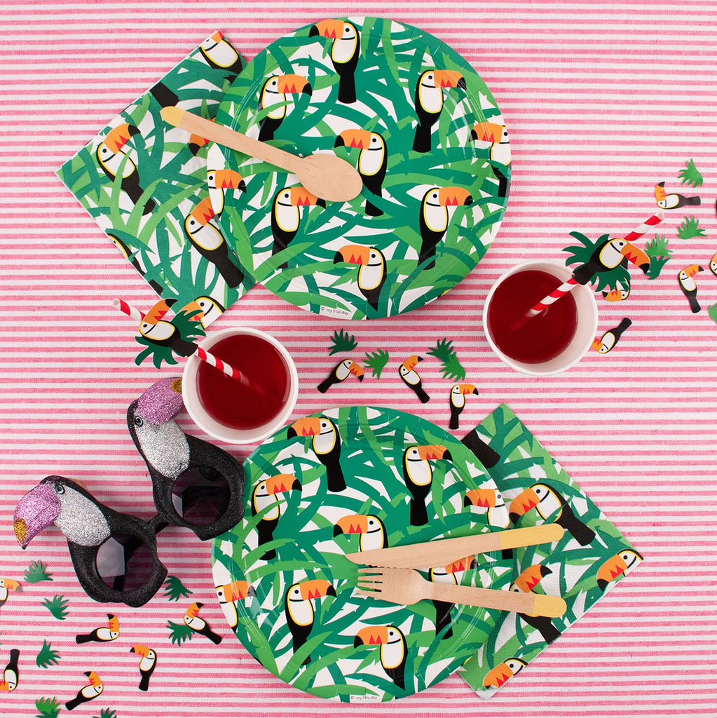 Idée décoration de fête: la table tropicale par My Little Day