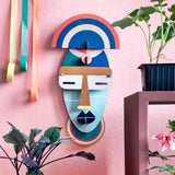 Décoration murale My Little Day forme masque africain coloré