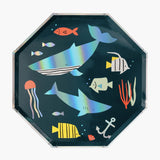 8 grandes assiettes - Sous la mer - My Little Day