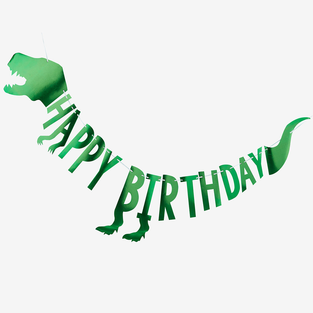 Guirlande Happy Birthday - deco anniversaire Dinosaure - My Little Day