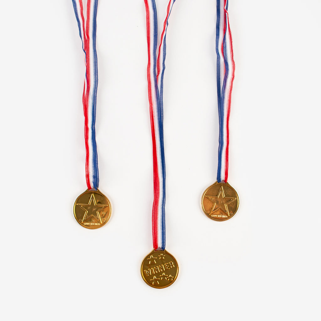 48 X OLYMPIC Gold Medals Children Kids Plastic Winner Costume Party Toys-PARTY P