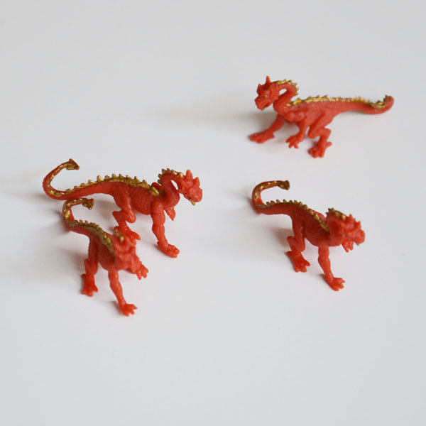 1 mini figurine - Dragon orange