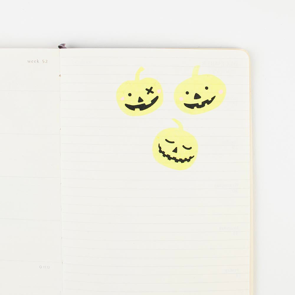 4 planches de stickers phosphorescents citrouille - Halloween - My Little Day