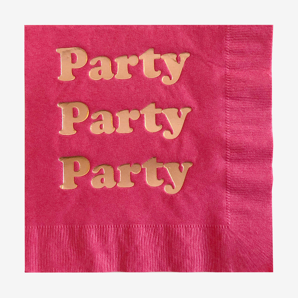 20 serviettes - Party Fuchsia - My Little Day
