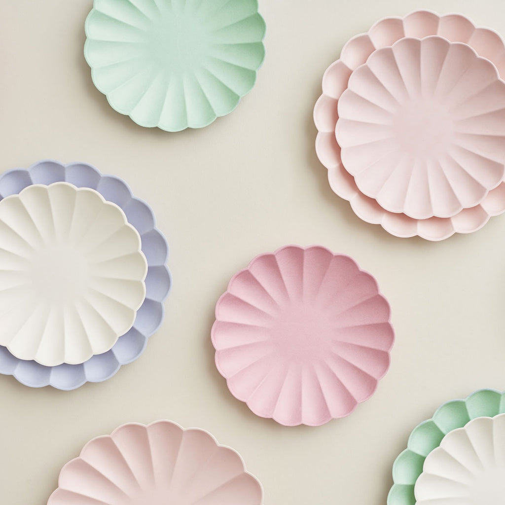8 assiettes compostables - Pastel - My Little Day