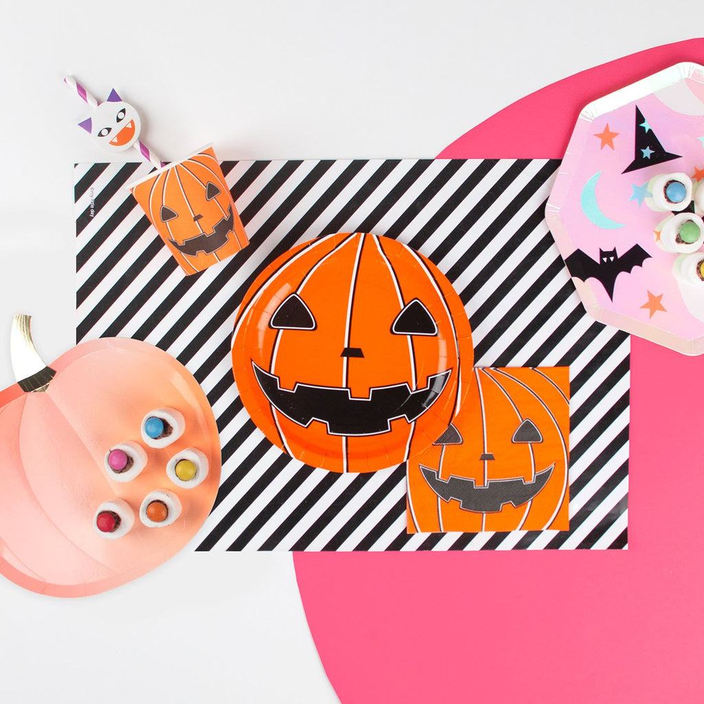20 petites serviettes mini citrouille - Halloween - My Little Day