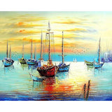 Image of Art - Sunset Sail Paint By Numbers