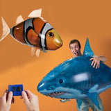 Image of Balloon - Remote Control Air Swimming Fish And Shark