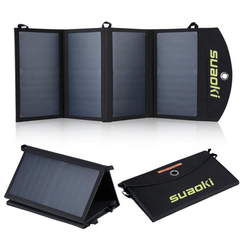 Battery Charger - 25W Foldable Water Resistant Solar Panel Charger