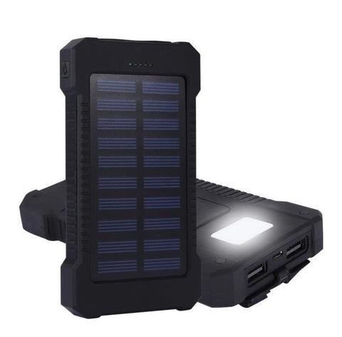 Battery Charger - Waterproof Solar Power Bank Charger