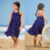 Image of Beach Dress - Girl Wearing an Anchored Sundress Damn Skippy Wear