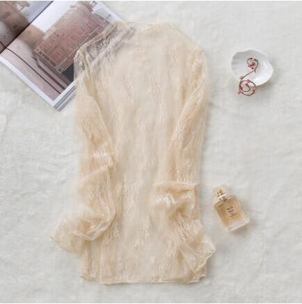 Image of Beach Dress - Beige Lace Cardigan
