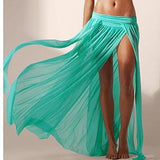 Image of Beach Skirt - Dreamy Beach Skirt and Resort Wear Green