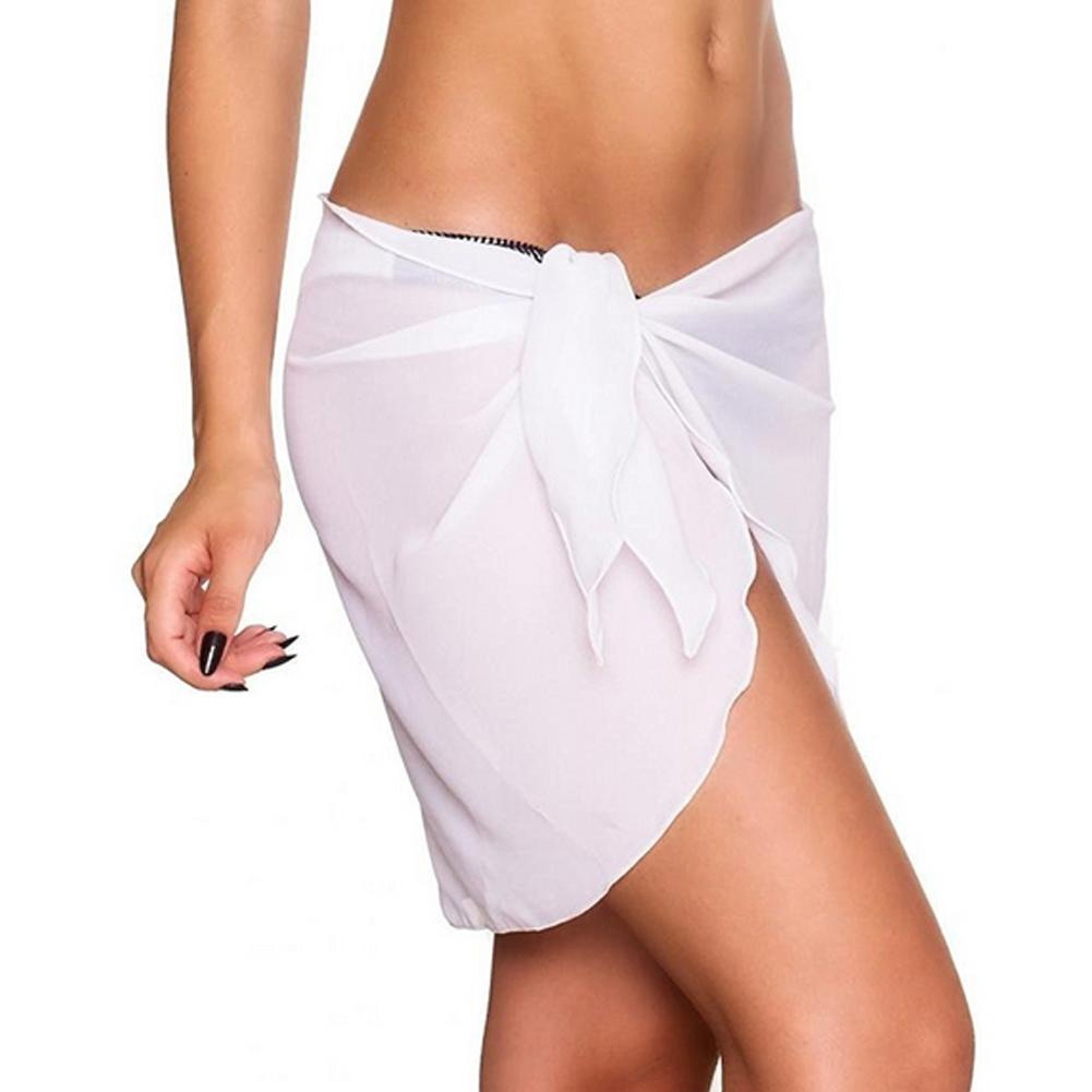 Beach Wear - Glam beach cover mini skirt wite