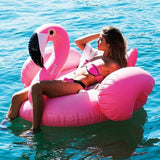 Image of Charming Flamingo Inflatable Bed Pool Floats