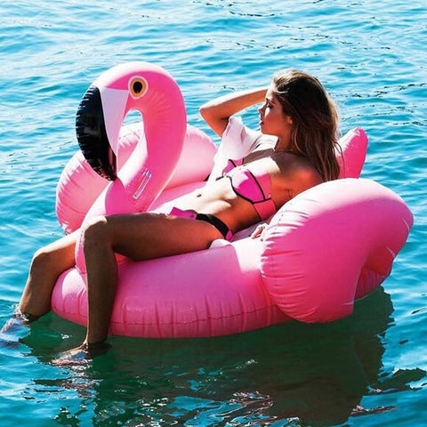 Charming Flamingo Inflatable Bed Pool Floats