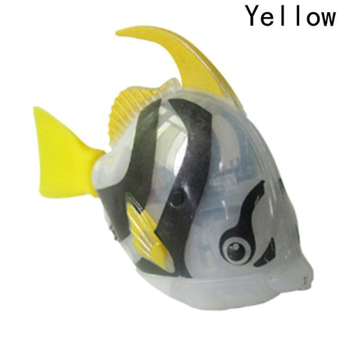 Image of Electronic Fish - High Quality Robot Moorish Idol Aquarium Fish Yellow