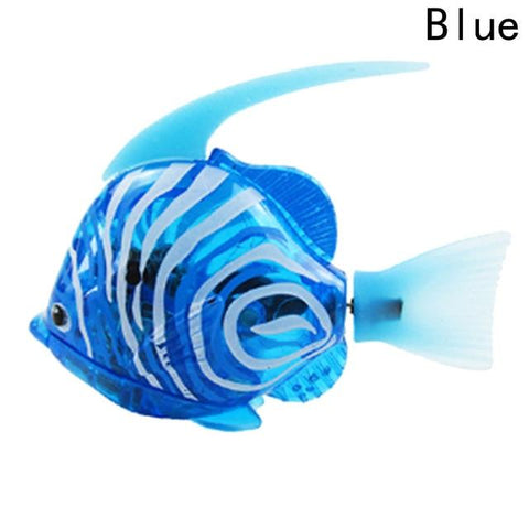 Image of Electronic Fish - High Quality Robot Moorish Idol Aquarium Fish Blue