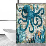 Image of Shower Curtain - Octopus  Bath Curtain