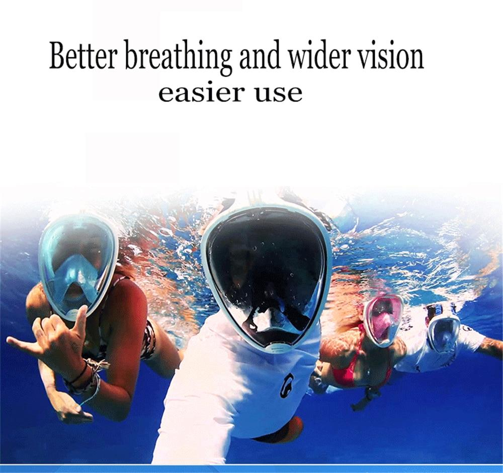 Scuba Gear Full Face Diving Mask And Snorkeling Set