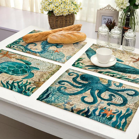 Image of Home Decor - Marine Animals Table Placemats