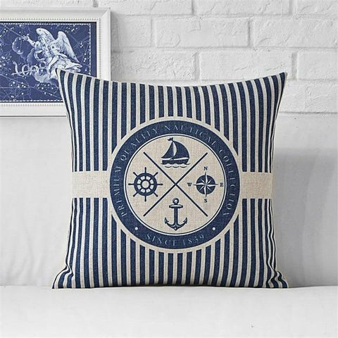 Image of Home Decor - Marine Printed Throw Pillow Covers