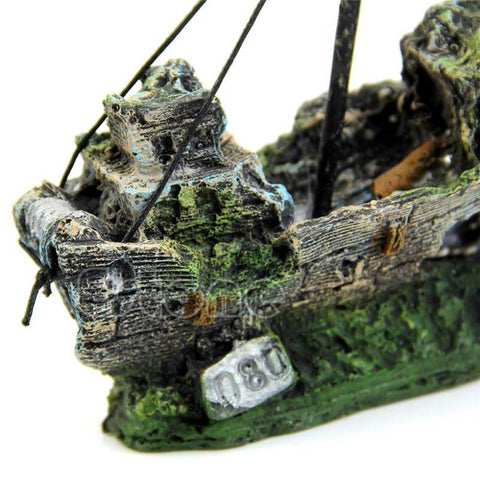 Image of Home Decor - Shipwreck Aquarium/Fish Tank Ornament