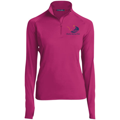 Image of Jackets - ASC Women's 1/2 Zip Embroidered Performance Pullover