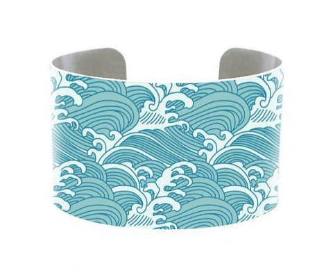 Image of Jewelry - 5 Oceans Cuff Bracelet -Pacific Ocean