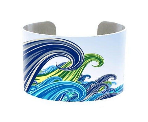 Image of Jewelry - 5 Oceans Cuff Bracelet - Indian Ocean