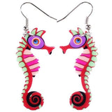 Image of Jewelry - Acrylic Seahorse Earrings