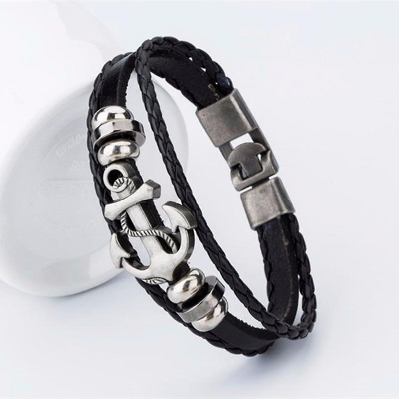 Jewelry - Anchor Leather Bracelet
