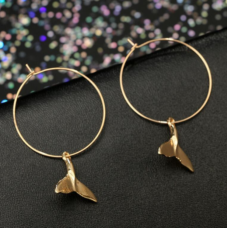 Jewelry - Boho Freedom Whale Earrings Gold -Damn-Skippy-Wear