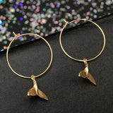 Image of Jewelry - Boho Freedom Whale Earrings Gold -Damn-Skippy-Wear