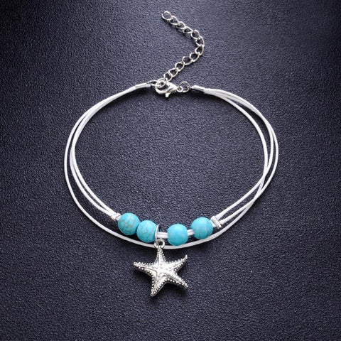 Jewelry - Bohemian Starfish Anklet -Damn-Skippy-Wear
